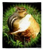 Chipmunk Saying Grace Fleece Blanket