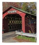 Chiselville Covered Bridge Fleece Blanket