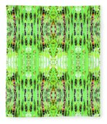 Chive Abstract Green Fleece Blanket