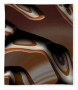 Chocolate Bark Fleece Blanket