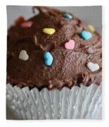 Chocolate Cupcake Fleece Blanket