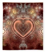Chocolate Heart Fleece Blanket