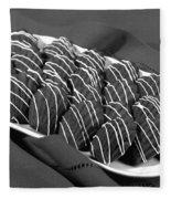 Chocolate Madeleines Fleece Blanket
