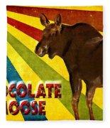 Chocolate Moose Fleece Blanket