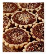Chocolate Pecan Tarteletts Fleece Blanket