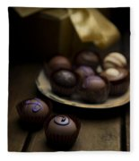 Chocolate Pralines Fleece Blanket