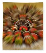 Chocolate Strawberry Rush Fleece Blanket