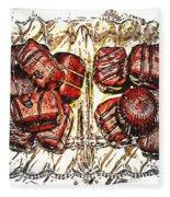 Chocolates - Illustration - Dish - Candy Fleece Blanket