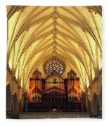Choir Loft At Saint Josephs Cathedral Buffalo New York Fleece Blanket
