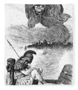 Cholera Cartoon, 1883 Fleece Blanket