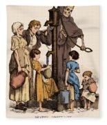 Cholera-infected Pump, 1854 Fleece Blanket