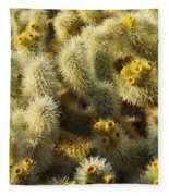 Cholla Cactus Garden Mirage Fleece Blanket