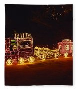 Choo Choo Train In Lights Fleece Blanket