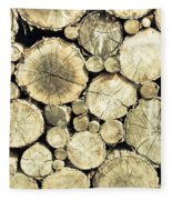 Chopped Wood Fleece Blanket