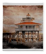 Choptank River Lighthouse Fleece Blanket