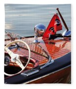 Chris Craft Deluxe Runabout Fleece Blanket
