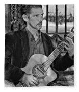 Chris Craig - New Orleans Musician Bw Fleece Blanket