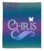 Chris Name Art Fleece Blanket
