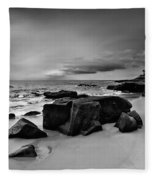 Chris's Rock 2013 Black And White Fleece Blanket
