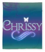 Chrissy Name Art Fleece Blanket