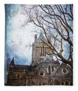 Christ Church Cathedral Dublin Fleece Blanket
