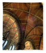 Christ Church Cathedral Roof Detail Fleece Blanket