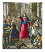 Christ Cleanses The Temple Fleece Blanket