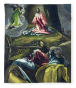 Christ In The Garden Of Olives Fleece Blanket