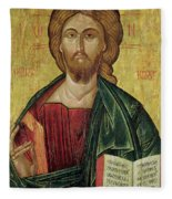 Christ Pantocrator Fleece Blanket