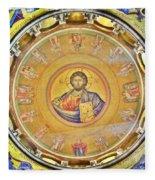 Christ Pantocrator -- Church Of The Holy Sepulchre Fleece Blanket