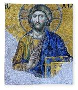 Christ Pantocrator II Fleece Blanket
