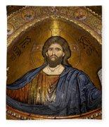 Christ Pantocrator Mosaic Fleece Blanket