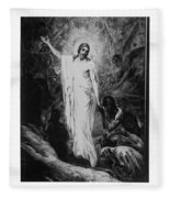 Christ Preaching To The Spirits In Prison C. 1910 Fleece Blanket