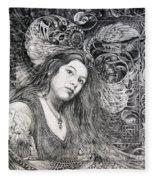 Christan Portrait Fleece Blanket