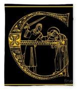 Christian Initial Letter E Fleece Blanket