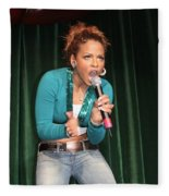 Singer Christina Milian Fleece Blanket