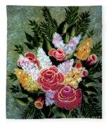 Christina's Bouquet Fleece Blanket