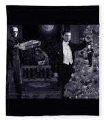 Christmas At Dracula's Fleece Blanket
