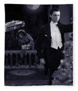 Christmas At Dracula's Fleece Blanket