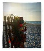 Christmas At The Beach Fleece Blanket