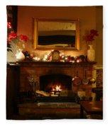 Christmas At The Pub Fleece Blanket