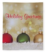 Christmas Baubles Fleece Blanket