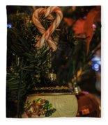 Christmas Bokeh 3 Fleece Blanket