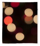 Christmas Bokeh Lights Fleece Blanket