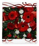 Christmas Bouquet  Fleece Blanket