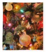 Christmas Branches Fleece Blanket