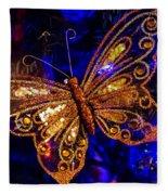 Christmas Butterfly Fleece Blanket