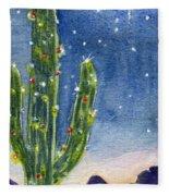 Christmas Cactus Fleece Blanket