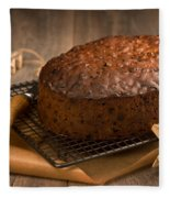 Christmas Cake With Knife Fleece Blanket