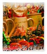 Christmas Candies Fleece Blanket